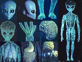 Ложный инопланетянин со структурой органов
